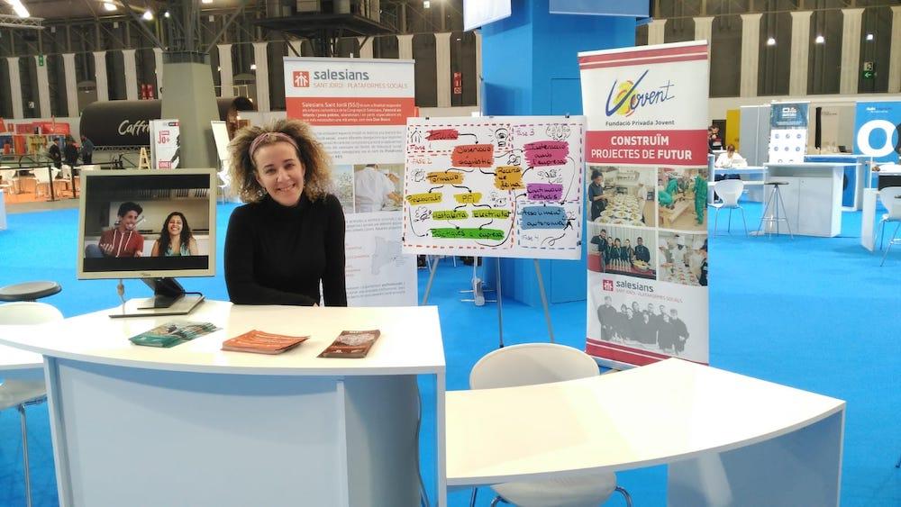 Las Plataformas Sociales Salesianas de Cataluña en el Salón del Empleo Juvenil de Barcelona 2019